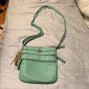Handbags - Turquoise mid size purse
